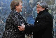 Alejandro Navarro y Presidenta Bachelet