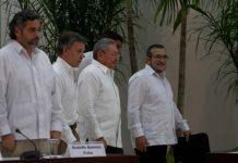 """José Manuel Santos y Timoleón Jiménez, """"Timochenko"""""""