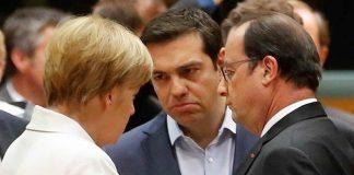 merkel, tsipras y hollande
