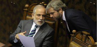Carlos Montes, Presidente del Senado y Gonzalo Blumel. Ministro Secretario General de la Presidencia.
