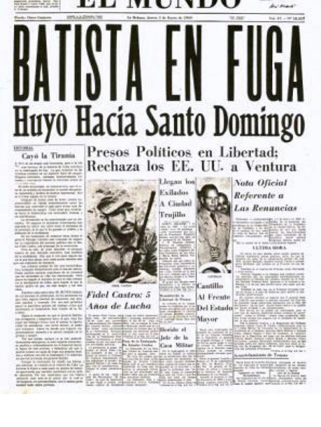 1 de enero de 1959 en Cuba