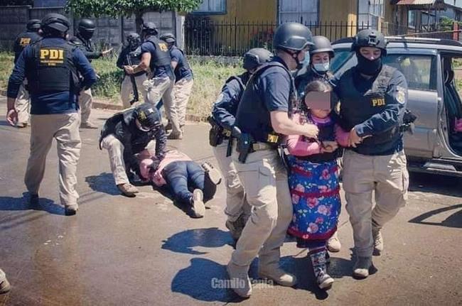 Detención hija de Catrillanca
