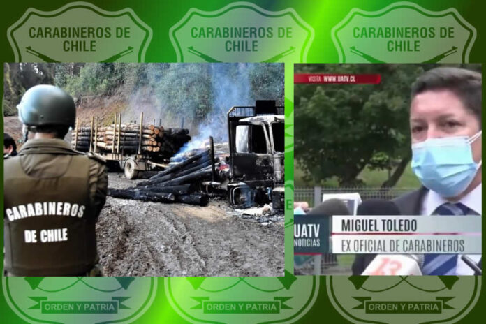 Ex Oficial de Carabineros Denuncia a Mafia Policial Tras Atentados Incendiarios Atribuidos a Comunidades Mapuche