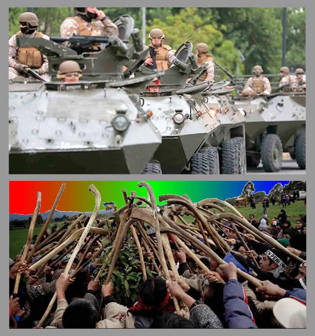 militarización araucanía