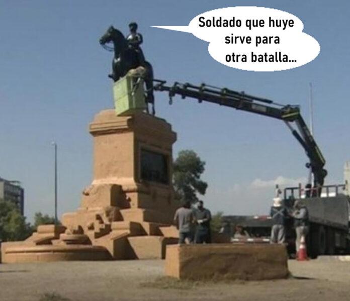 Removerán estatua de Baquedano