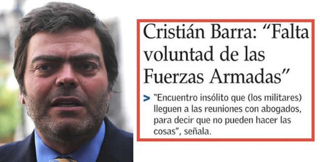 A Cristián Barra lo Echaron por Decir en Público lo que Piñera¨Trama en Privado