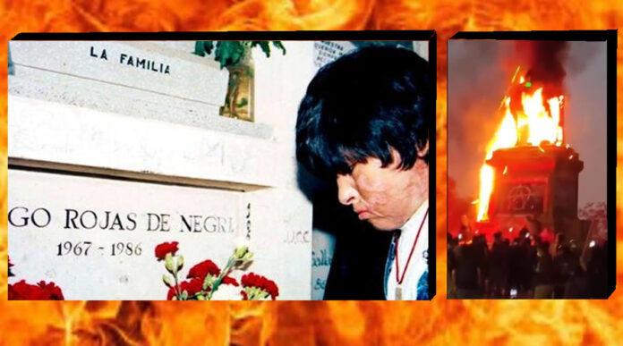 Ejército Quemó Vivos a Dos Jóvenes y se Queja por Incendio de Estatua