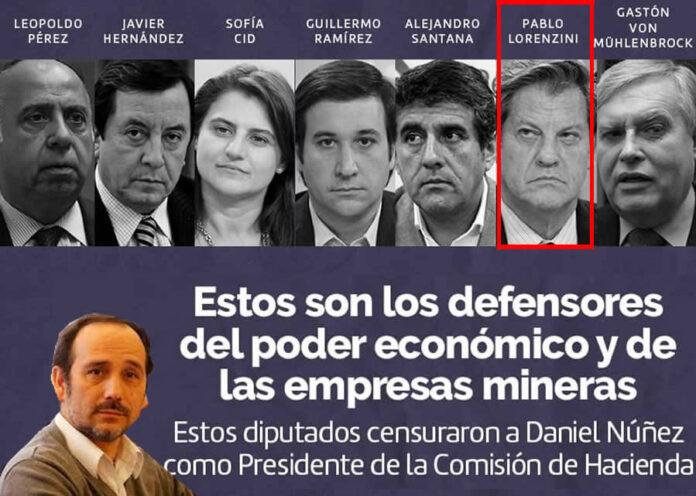 Las Mineras le Pasaron la Cuenta a Diputado Núñez por el Royalty