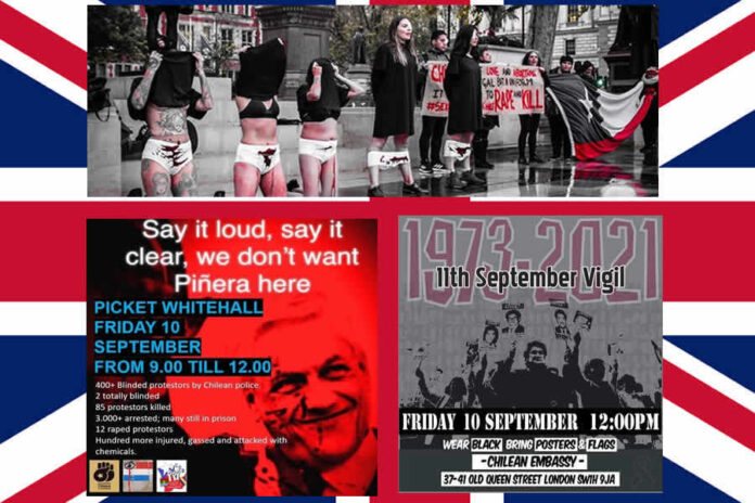 Estudiantes Británicos Repudiaron Presencia de Piñera